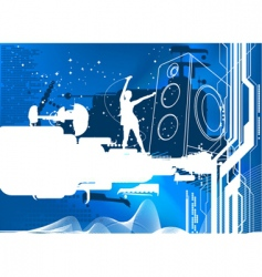 blue sound vector image vector image