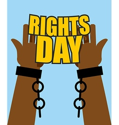 Human Rights Day Poster for International Festival vector image