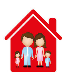 red family together icon vector image vector image