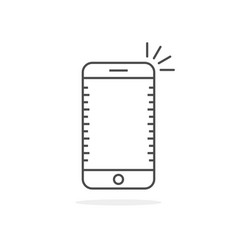 simple thin line smartphone icon vector image vector image