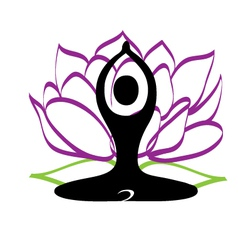 Yoga and lotus flower logo vector image vector image