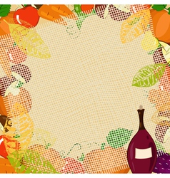 autumn frame2 vector image vector image