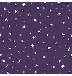 Cute hand drawn seamless pattern with night sky vector image vector image