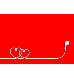 Hearts of electric wire vector