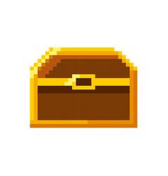 baul treasure video game pixelated vector image vector image