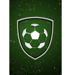 football badge vector image vector image