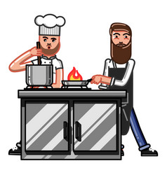 kitchen worker man vector image vector image