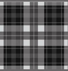 seamless gray black tartan - white stripes vector image vector image