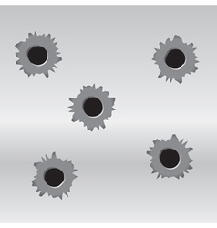 set of bullet holes vector image