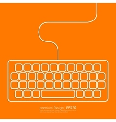 Stock Linear icon keyboard vector image vector image