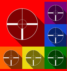 sight sign set of icons with vector image vector image