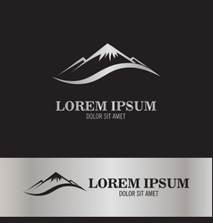 abstract mount logo vector image
