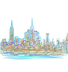 abstract new york city vector image