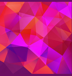 abstract triangular mosaic red background vector image