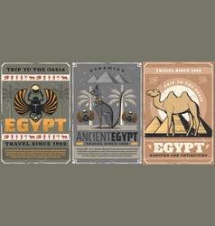 ancient egypt culture and religion travel vector image