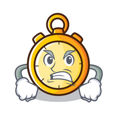 Angry chronometer character cartoon style vector