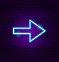 Arrow neon sign 3 vector