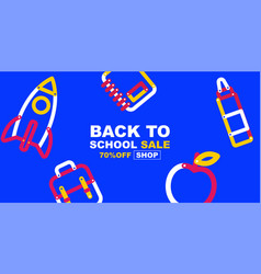 Back to school sale banner poster design layout vector