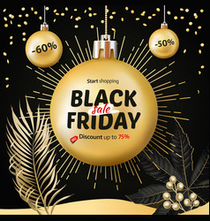 Black friday sale christmas and new year shopping vector