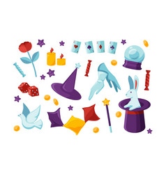 bundle equipment and tools for performing magic vector image
