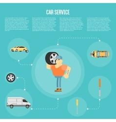 Car shop infographics vector