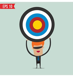 Cartoon business man with the target - - EP vector