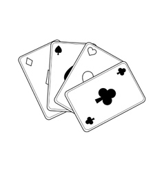 Casino cards game concept vector