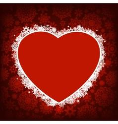 Christmas card - frame heart EPS 8 vector