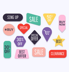Collection premium promo sealsstickers vector