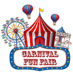 colorful carnival funfair banner vector image