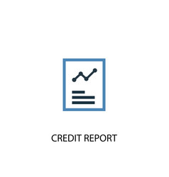 credit report concept 2 colored icon simple blue vector image