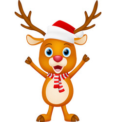 cute deer cartoon standing vector image