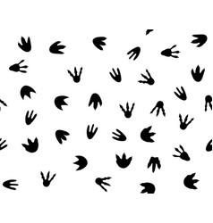 Dinosaur footprint pattern seamless print paw vector