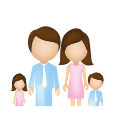 family together cartoon icon vector image