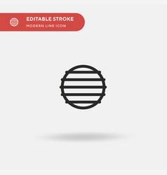 Fitball simple icon symbol vector