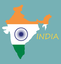 flag map of india vector image