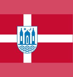 Flag of svendborg in southern denmark region vector
