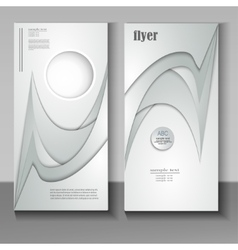 flyer with an abstract pattern paper vector image