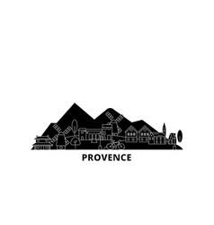 France provence flat travel skyline set france vector