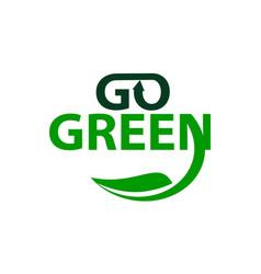 Go green logo design template vector