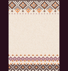 Handmade knitted abstract background pattern vector
