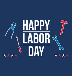 Happy labor day style design vector