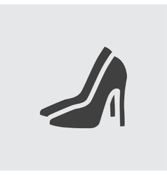 High heeled shoe icon icon vector image