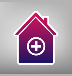 Hospital sign purple vector