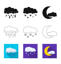 isolated object of weather and climate symbol set vector image