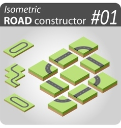 Isometric road constructor - 01 vector