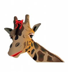 lady giraffe vector image