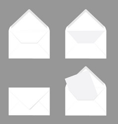 letter envelope in white color on grey vector image