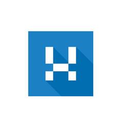 Letter x logo icon design flat long shadow vector
