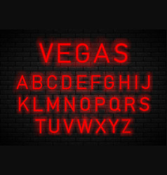 light neon font vector image